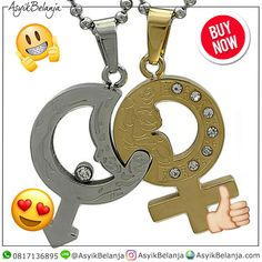 Kalung Couple SilverGold Roman (SKU1204) ✅Steel 316L Titanium ✅2.8cm x 2cm x 3mm | 2.7cm x 1.8cm x 3mm ✅Rp 300rb  AsyikBelanja.com The perfect companion for your fashion & style WA: 0817136895 IG: AsyikBelanja Line: @AsyikBelanja  #jualkalung #liontin #kalungcouple #kalungcouplemurah #kalungcoupletitanium #kalungpasangan #liontincouple #liontinpasangan #aksesoriswanita #aksesoriscouple Roman, Couples, Couple
