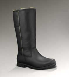 Womens Brooks Tall II By UGG Australia - Uggs are sooo comfy, and I love that these are leather. I want these in black AND brown....