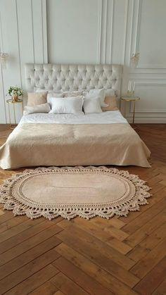Crochet Rug Patterns, Macrame Patterns, Crochet Motif, Crochet Carpet, Crochet Home, Doily Rug, Oval Rugs, Washable Rugs, Living Room Art
