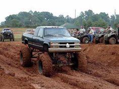 Go through a mud bog.