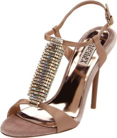 Badgley Mischka Platinum Women's Java T-strap Sandal