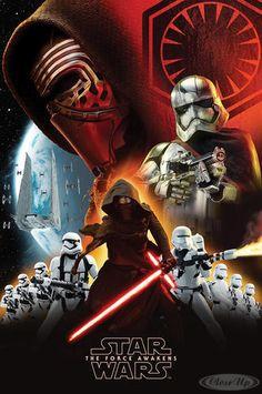 Star Wars: Episode 7 Poster First Order Collage - Kylo Ren (Adam Driver). mit ..