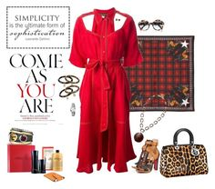 """Red"" by riquee ❤ liked on Polyvore featuring Givenchy, Christian Louboutin, Thierry Mugler, Fendi, Gucci, David Yurman, philosophy, Giorgio Armani, Michael Kors and Prada"