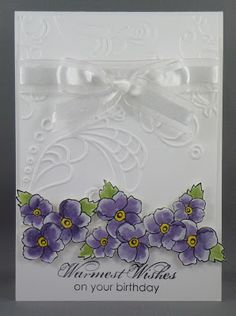 Cat's Ink.Corporated: Pat Carr's Stamp Camp April 2013 - Pretty In Purple - bordering on romance, elegant lines