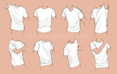 Clothing study- shirts by Spectrum-VII on DeviantArt Body Drawing Tutorial, Sketches Tutorial, Drawing Reference Poses, Drawing Poses, Shirt Drawing, T Shirt Sketch, Clothing Sketches, Art Clothing, Drawing Anime Clothes