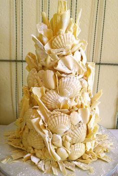 shell cake/  beach wedding?