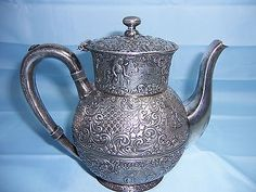 Antique Barbour Silver Company Heavy Hotel Teapot 3177 International Silver | eBay