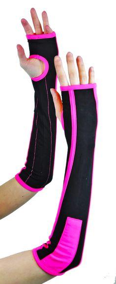 Cryo Tron Arm Warmers Black/UV Pink