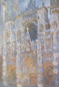 monet's rouen cathedrals.  now on display at lacma w/ lichtenstein's version of the same subject.