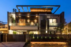 Modern House Facades, Modern Exterior House Designs, Modern House Design, Modern Houses, Casa Top, Bungalow, House Architecture Styles, Planet Design, House Outside Design