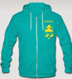 Unisex sweatshirt with Flock print