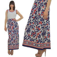 Vintage Hippie dress Boho maxi dress Mod by SHABBYBABEVINTAGE, $75.00