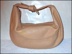 '$300 Aigner Leather Knotted Hobo - EUC' is going up for auction at  8pm Mon, Apr 21 with a starting bid of $1.