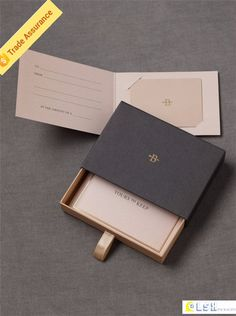 luxury custom gift drawer packaging paper watch box with EVA or sponge