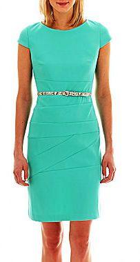 Alyx Cap-Sleeve Spliced Belted Dress  Was: 60.00$ Now: 34.99$
