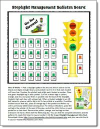 Stoplight Management Freebie and loads of other free back-to-school resources