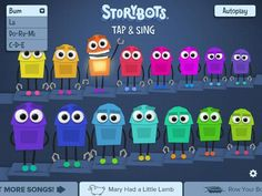 storybots App  I like the bright colors and the typography.