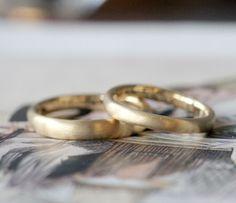 つや消しゴールドの結婚指輪 [marriage,wedding,ring,bridal,マリッジリング,K18,gold,ith,イズ]