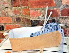 Luxury HESSIAN JUTE BURLAP Canvas Large by KnittingBagAndCase