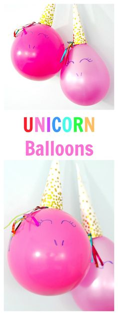 DIY Unicorn Balloons. Great ideas for a unicorn birthday party!