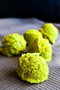 Flourless Pistachio Cookies (powdered pistachio, powdered sugar, grated coconut, egg white)