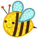 appliqué Happy Bee