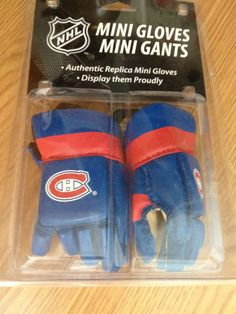 NHL Montreal Canadiens Aunthenic Replica Hockey MINI Gloves