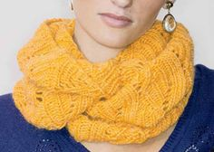Infinity Scarf Pattern Free: Maryse Cowl by Amy Christoffers Infinity Scarf Knitting Pattern, Knit Cowl, Lace Knitting, Knitting Patterns Free, Knit Patterns, Free Pattern, Knit Crochet, Knit Lace, Cowl Scarf