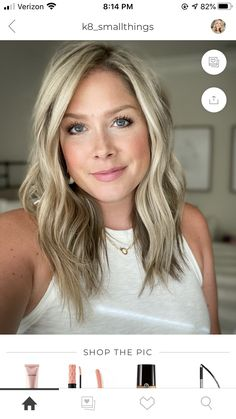 Shoulder Length Blonde Hairstyles, Blond Shoulder Length Hair, My Hairstyle, Great Hairstyles, Haircut And Color, New Haircuts, Awesome Hair, Pixie Cuts, Ash Blonde