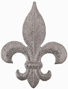 Approx Size 3 1 16 W X 4 H Metal Stamping M13 Fleur De Lis With Texture Approx 020 Steel Thickness 25 Gauge Metal 1 3 Metal Stamping Fleur De Lis Metal