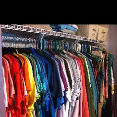 """10 Things that Should NOT Be in Your closet 1. Anything you don't LOVE:  2. Anything you don't need! 3. Anything that's too small! 4. Anything that's too big! 5. Anything you have multiples of!  6. Anything that doesn't fit your lifestyle!  7. Anything that doesn't """"go"""" with your other items!   8. Any empty hangers!  9. Anything that's not yours! 10. Anything that you can't wear!"""
