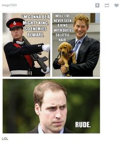 Prince Harry just can't wait to be king!