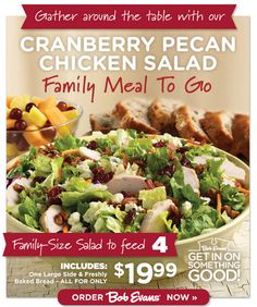 BOB EVANS $$ Reminder: Coupon for 20% off Carry Out Purchase – Expires TODAY (5/10)!