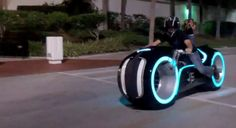 "Custom electric ""tron"" bike"