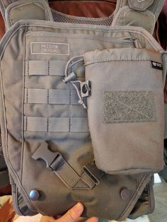 """The Mission Critical Baby Carrier has a panel-deep front pocket plus MOLLE straps to attach additional storage. (The """"How-To"""" Gun Girl photo)"""