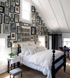 galleri, guest bedrooms, photo walls, family photos, gallery walls, picture walls, picture frames, guest rooms, frame walls