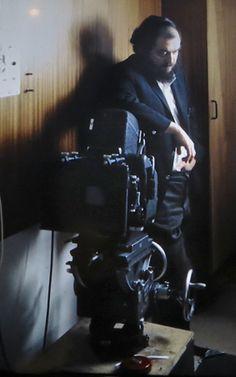Stanley Kubrick on the set of 'A Clockwork Orange,' 1971.