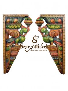 Home decorating parrot wooden wall Brackets Wood Crown Molding, Door Brackets, Pooja Room Design, Wooden Elephant, Pooja Rooms, Dark Wax, Wooden Walls, Clay Art