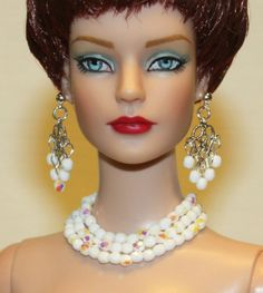 """Snow Crystals"" Jewelry Set for Tonner Tyler Cami Ellowyne DeeAnna Gene Sybarite"