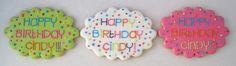 Happy Birthday plaque cookie