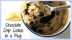 DIY Quick & Easy Chocolate Chip Cookie in a Mug | KKLemonCake
