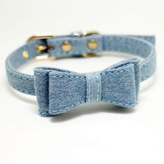 Pet Cute Denim Bowknot Collar Necklace for Cats and Small Dogs Blue Adjustable -- Awesome products selected by Anna Churchill