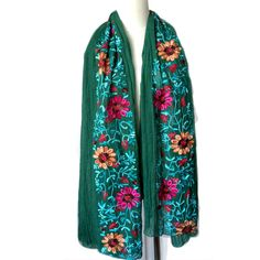 Cheap fashion scarves and shawls, Buy Quality scarves and shawls directly from China embroidered scarf Suppliers: 2016 Ethnic Style Embroidered Scarves and Shawls Fashion Design Artistic Style Bandana and Pashmina cotton scarf for woman Bandana, Hats For Women, Clothes For Women, Style Ethnique, Dresses For Less, Colored Highlights, Cotton Scarf, Long Scarf, Ethnic Fashion