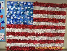 : Veteran's Day Large Scale American Flag Relief Sculpture Veterans Day Celebration, American Flag Crafts, Patriotic Posters, School Decorations, Collaborative Art, Art Lessons Elementary, Art Classroom, Classroom Ideas, Art For Kids