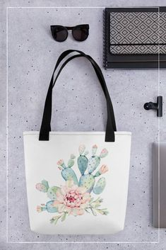 Aquarell Kaktus Tragetasche Lovely Things, Kate Spade, Reusable Tote Bags, Tote Bag, Cactus, Watercolor, Dime Bags