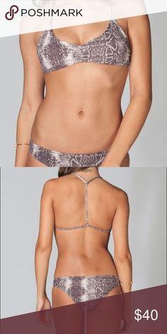 RVCA Snakeprint Bikini SET Tagged Acacia for views. Hygienic liner intact. No trades. Reasonable offers welcome! Small top/Small bottom. Brand is RVCA. acacia swimwear Swim Bikinis