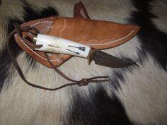 """Hunting Knife Ken Richardson MADE N USA Smooth HORN   3""""  Clip  BLADE #KENRICHARDSON #FixedBlade"""