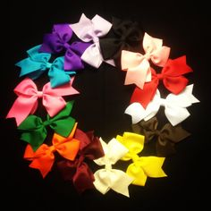 Assorted color hair bows! Perfect for everyday wear!