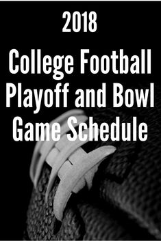 A handy schedule for all of the 2018 College Football Bowl games, complete with dates, times, locations, teams and TV coverage, as well as a spot to record the winners! Print yours out today!