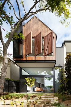 enochliew:  Sustainable House Randwick 2 by Day Bukh Architects  Inspired by the traditional childlike idea of a gable roofed house and how that translates into purity of form and order of structure within a piece of modern architecture.